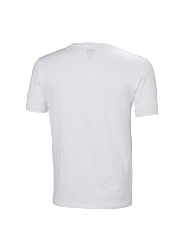 Helly Hansen Helly Hansen Erkek Beyaz Bisiklet Yaka T-Shirt Beyaz